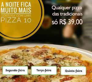 Pizza tradicional Grande (8 fatias) por R$ 39,00 - Válido para SEGUNDA, TERÇA E QUINTA.
